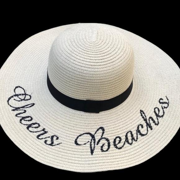 dbafc6a3 Cheers Beaches Accessories | Floppy Beach Hat In Cream | Poshmark